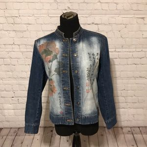 Chico's Design Asian Inspired Jean Jacket